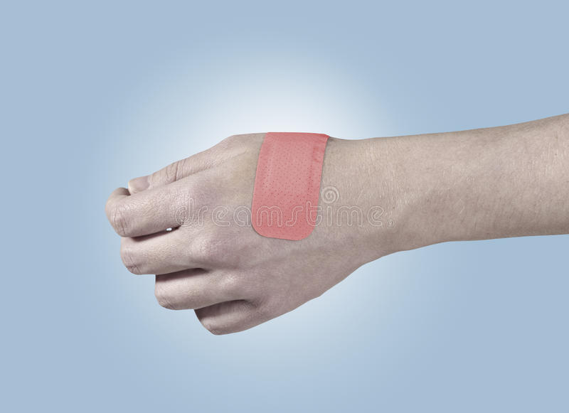 Download Adhesive Healing Plaster On Hand. Stock Photo - Image: 27971204