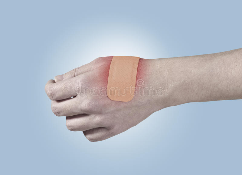 Download Adhesive Healing Plaster On Hand. Stock Image - Image: 28047215