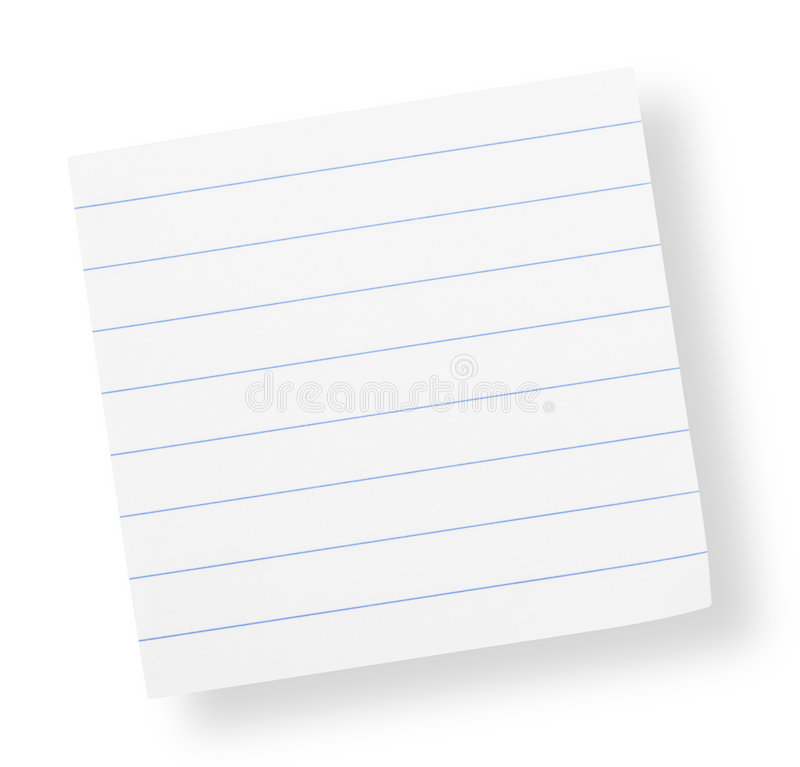 Adhesive Lined Paper(with Clipping Path) Royalty Free Stock Photography