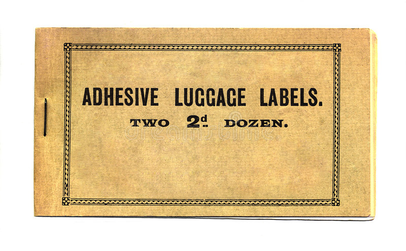 Download Adhesive luggage labels stock photo. Image of white, cover - 199020