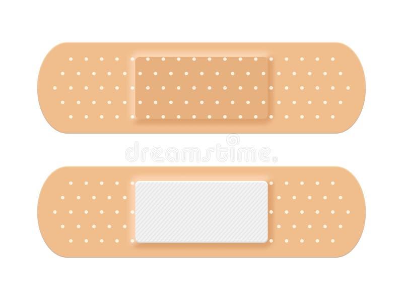Adhesive medical plaster strip bandage. Medical patch aid strip royalty free illustration