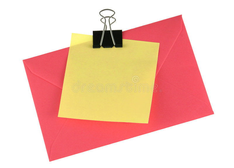 Download Adhesive note and envelope stock image. Image of communication - 3807327