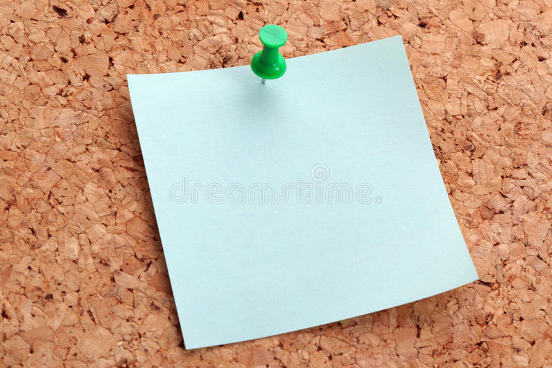 Adhesive Note On A Notice Board Royalty Free Stock Photography