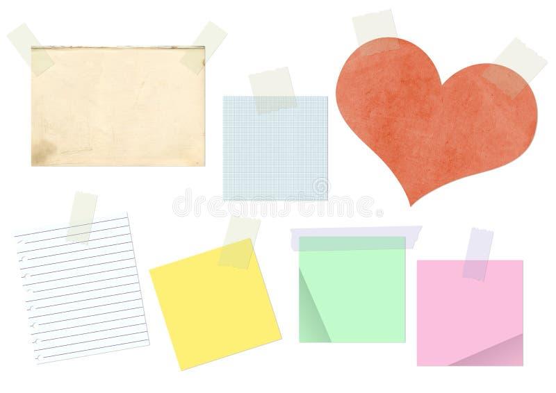 adhesive papperen klistrat band vektor illustrationer