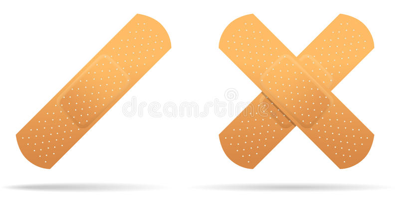 Adhesive plaster medical. Isolated object on white background. Vector. royalty free illustration