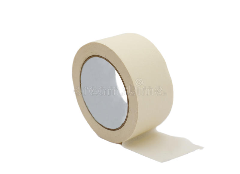 Adhesive tape. On a white background stock images