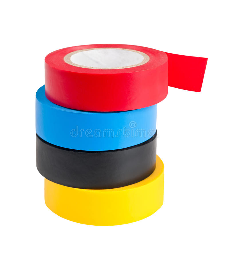 Adhesive tape. On the white background royalty free stock photos