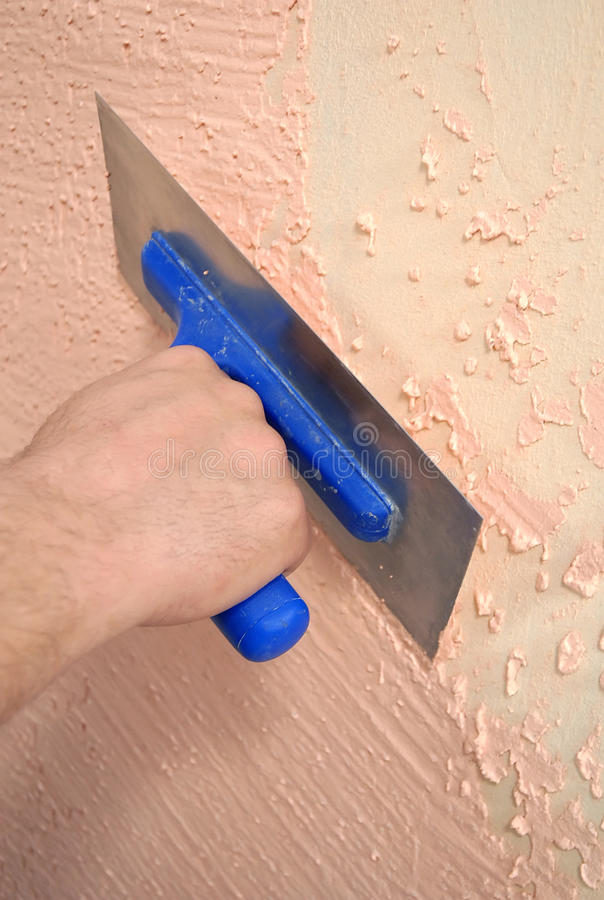 Adhesive on the wall stock photography