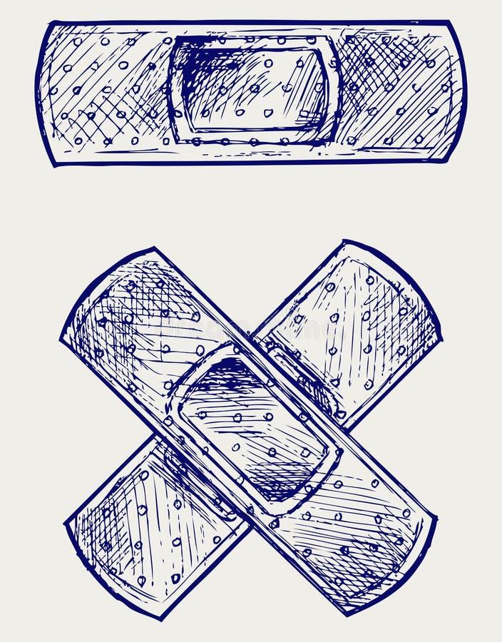 Adhezyjny bandaż ilustracji