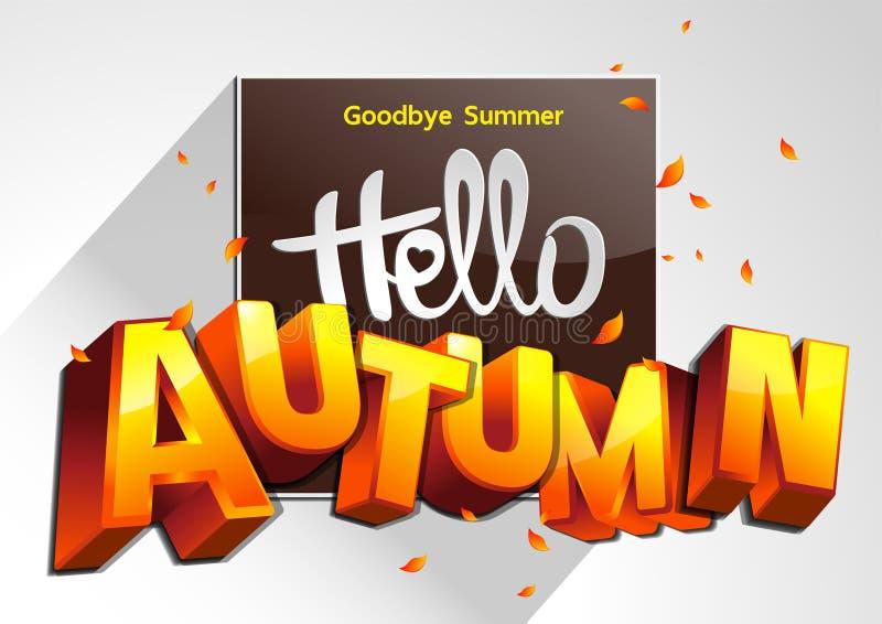 Adiós otoño del verano hola ilustración del vector