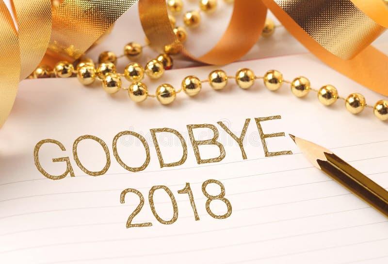Adiós 2018 recepción 2019 con la decoración fotografía de archivo