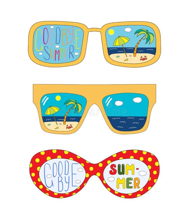 Adiós vidrios del verano libre illustration