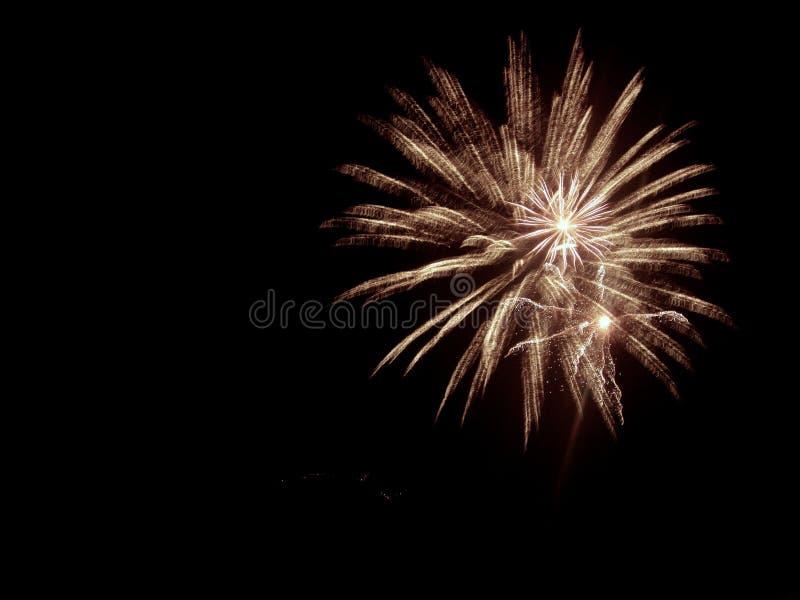 Adiante de fogos-de-artifício de julho fotografia de stock