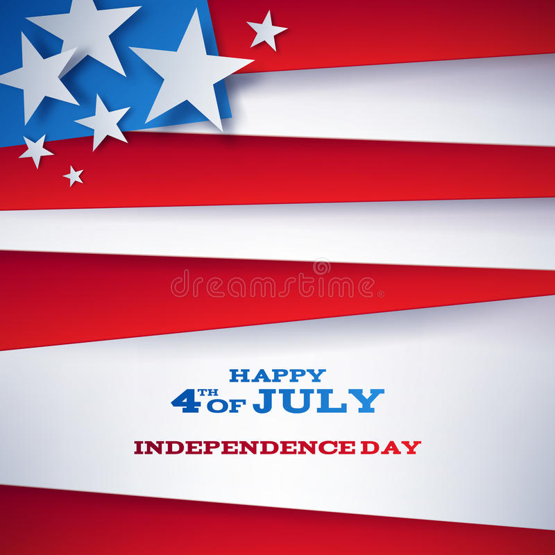Adiante projeto do fundo do Dia da Independência de julho ilustração do vetor