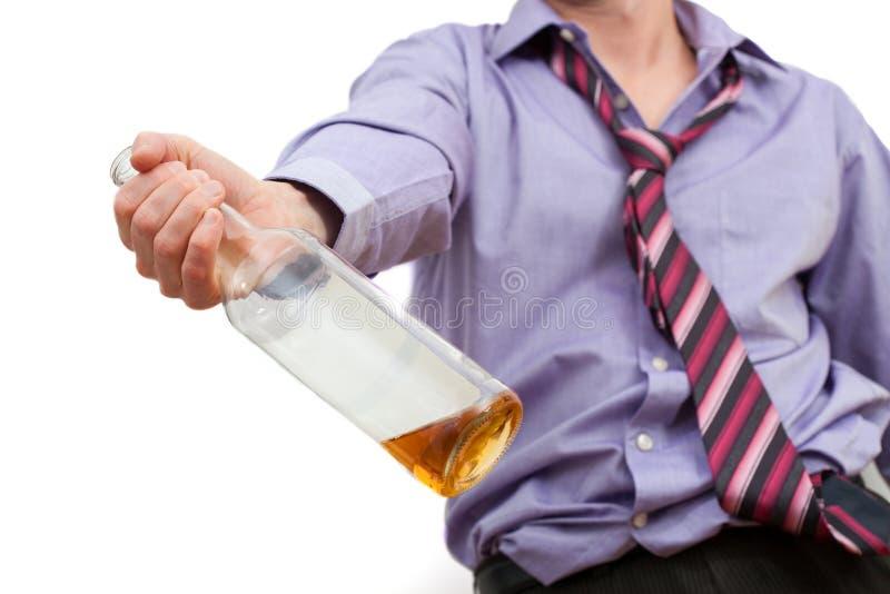 Adicción al alcohol imagen de archivo