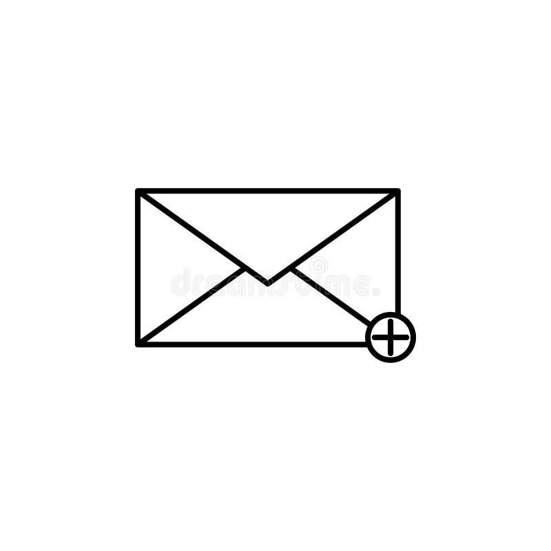 adición de un icono del mensaje Elemento del icono simple para los sitios web, diseño web, app móvil, gráficos de la información  libre illustration