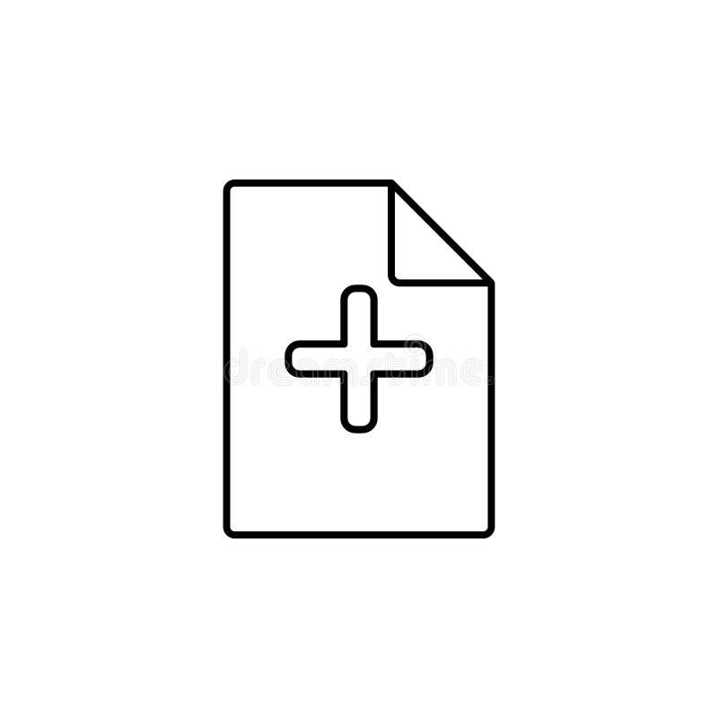 adición de un icono de la hoja Elemento del icono simple para los sitios web, diseño web, app móvil, gráficos de la información L libre illustration