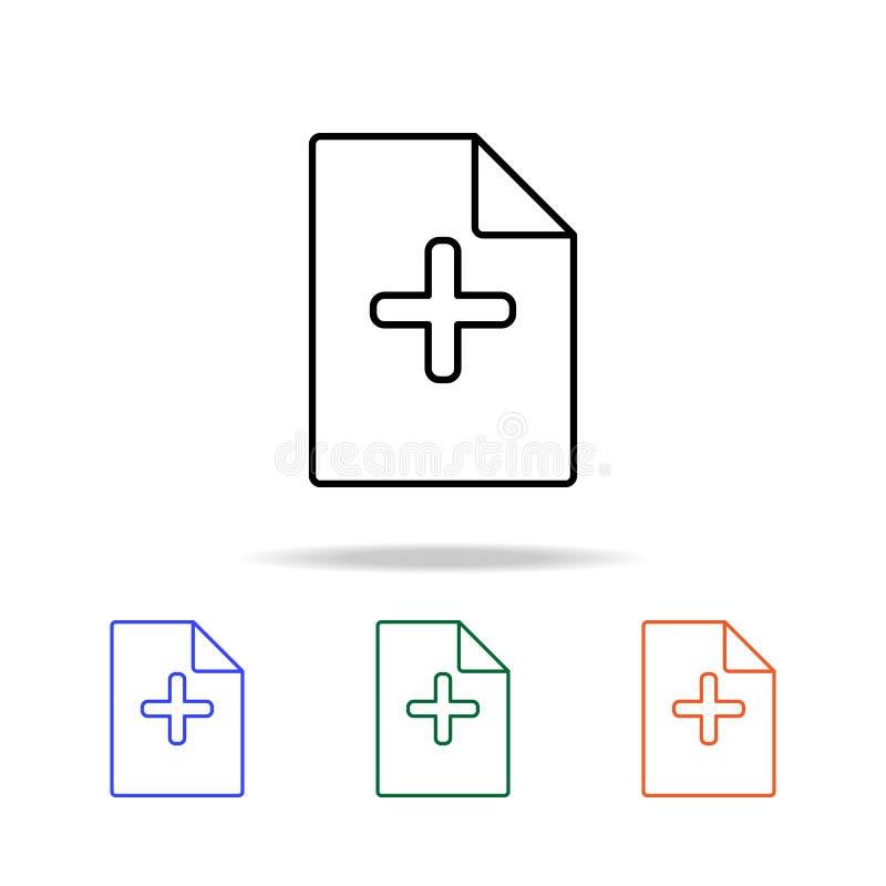 adición de un icono de la hoja Elementos del icono simple de la web en multicolor Icono superior del diseño gráfico de la calidad stock de ilustración