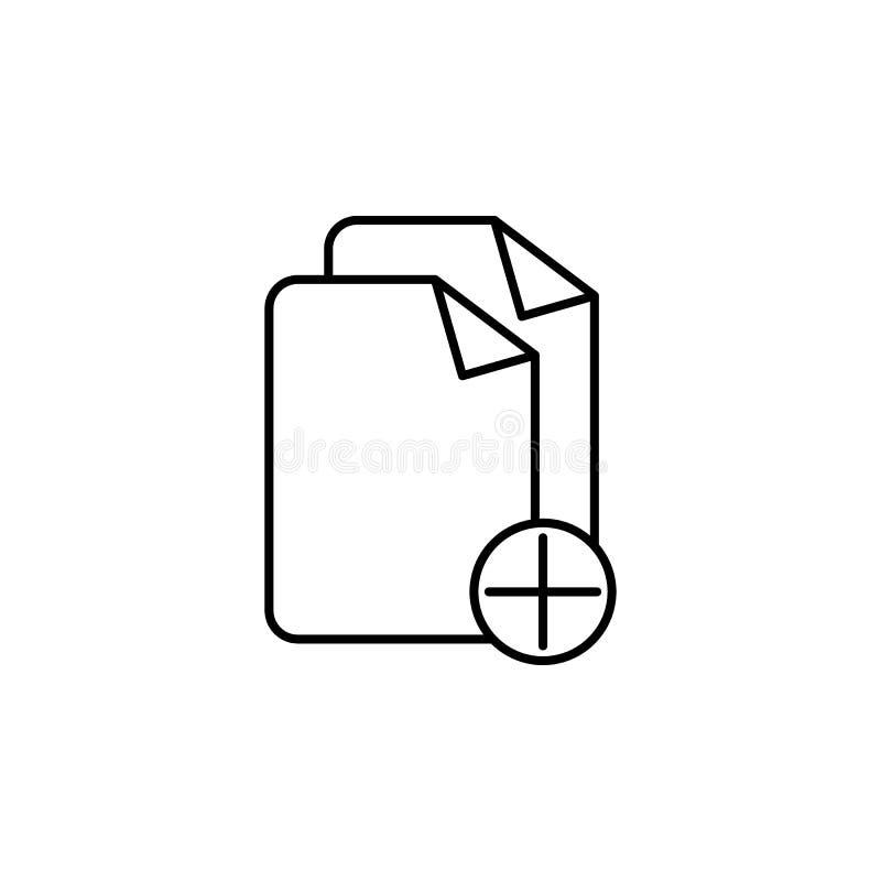 adición del icono de las hojas Elemento del icono simple para los sitios web, diseño web, app móvil, gráficos de la información L stock de ilustración