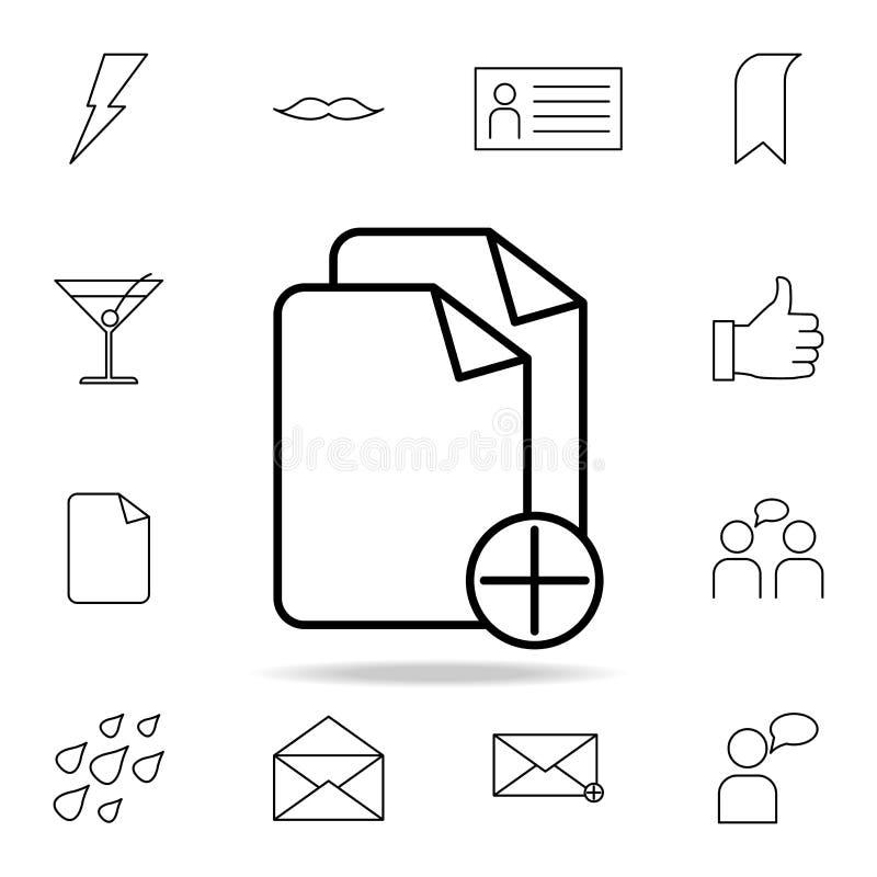 adición del icono de las hojas Sistema detallado de iconos simples Diseño gráfico superior Uno de los iconos de la colección para ilustración del vector