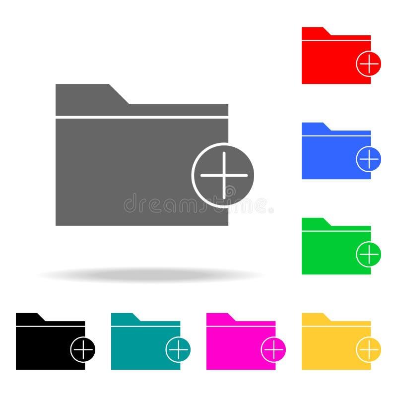 adicionando ícones de um dobrador Elementos Web humana de ícones coloridos Ícone superior do projeto gráfico da qualidade Ícone s ilustração do vetor