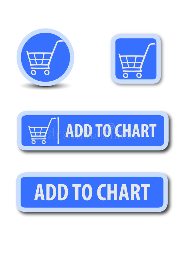 Adicione ao botão da Web da carta imagem de stock
