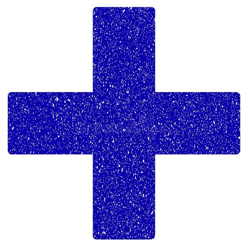 Adicione a filigrana do Grunge do ícone da operação da matemática ilustração stock