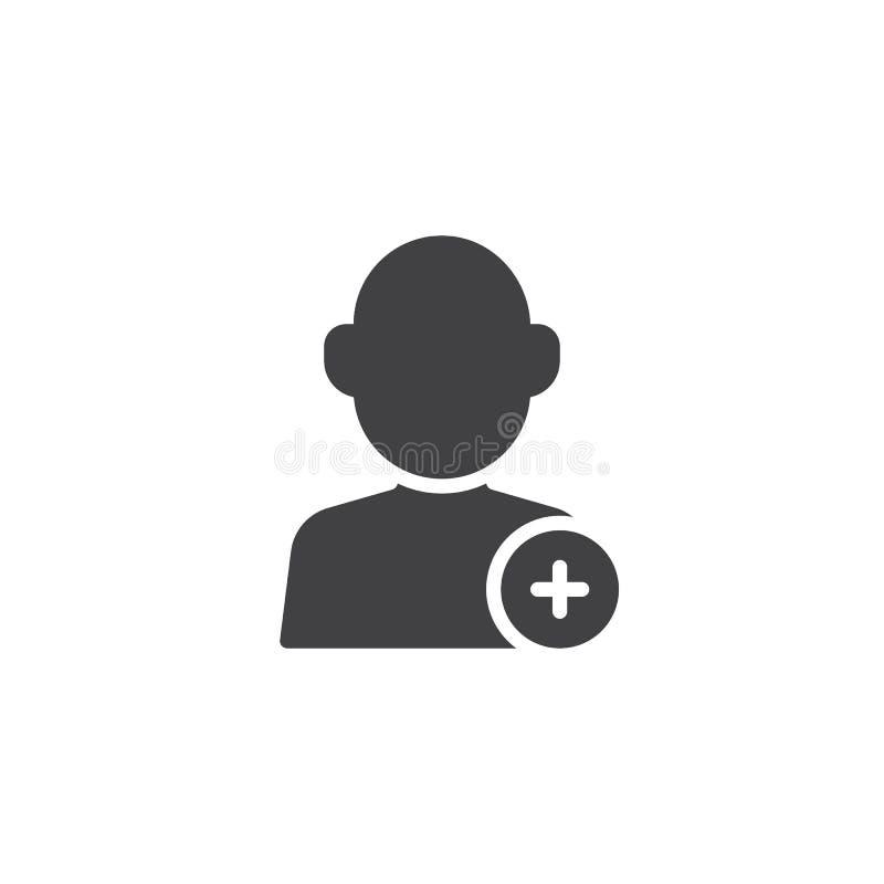 Adicione o ícone novo do vetor da conta de utilizador ilustração royalty free