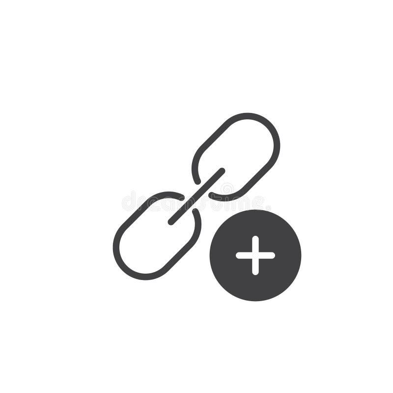 Adicione o vetor do ícone da relação ilustração royalty free