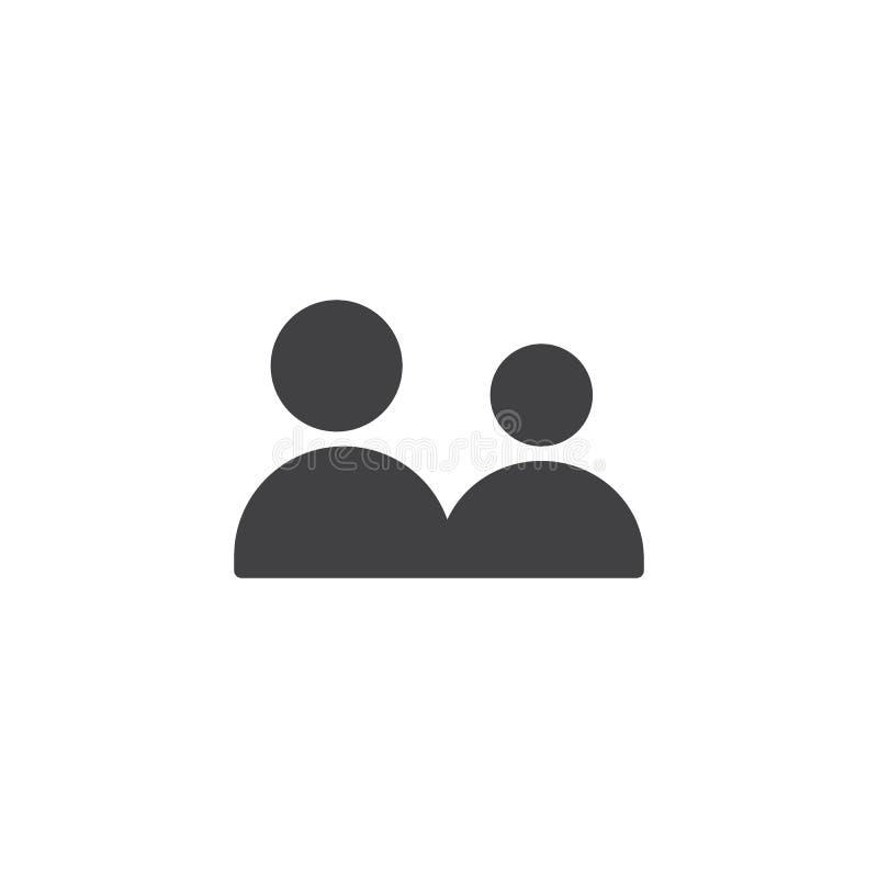 Adicione o vetor do ícone de grupo de utilizadores ilustração do vetor