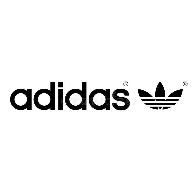 Adidas logo sports commercial royalty free illustration