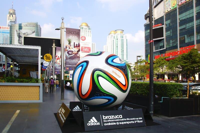 The Adidas Brazuca ball. Bangkok stock images