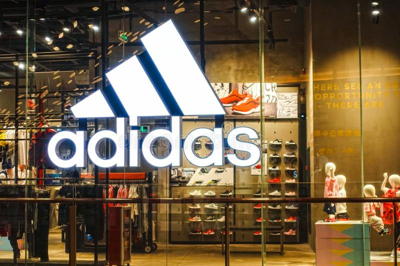 info pour ad5a7 0e8b9 Adidas Shop Stock Images - Download 859 Royalty Free Photos