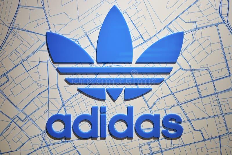Adidas firma immagini stock libere da diritti