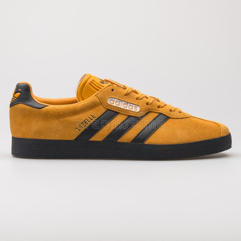 adidas gazelle black and orange