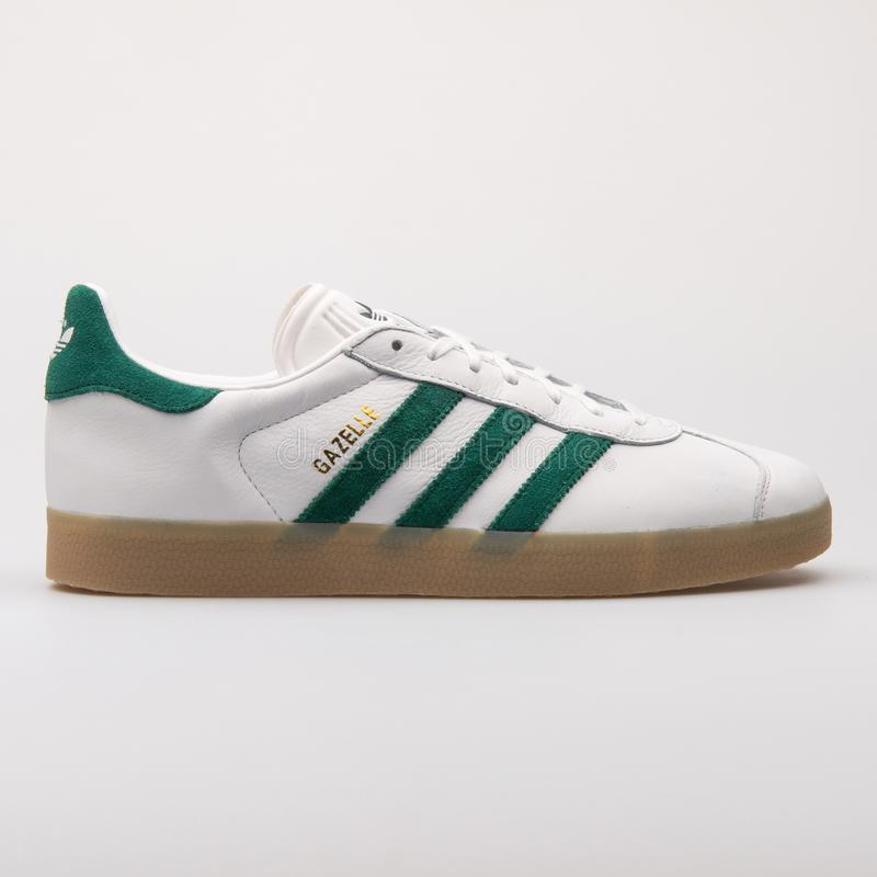 Adidas Gazelle White And Green Sneaker Editorial Stock Image ...