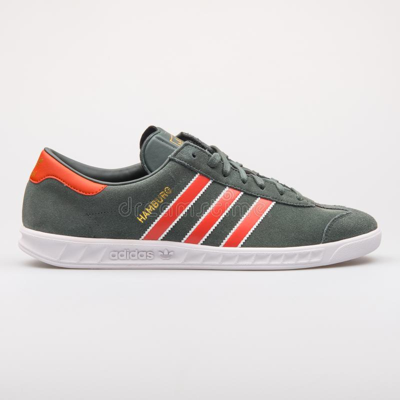 Adidas Hamburg Green And Red Sneaker Editorial Photo - Image of ...