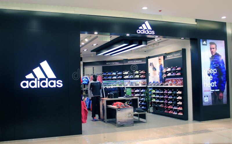 Adidas a Hong Kong fotografia stock libera da diritti