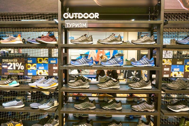 Adidas immagazzina immagine stock