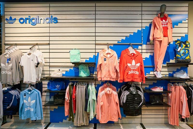 Adidas immagazzina fotografia stock