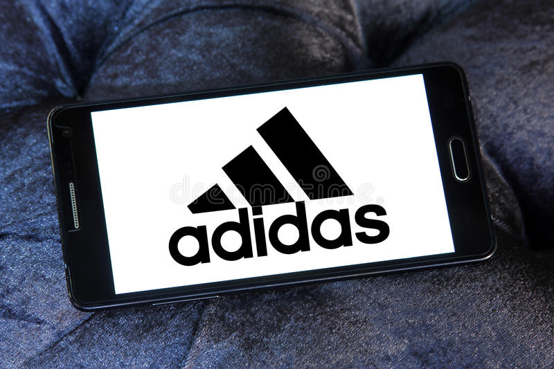 Adidas logo arkivfoto