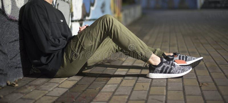Adidas NMD_R2 PK immagini stock libere da diritti