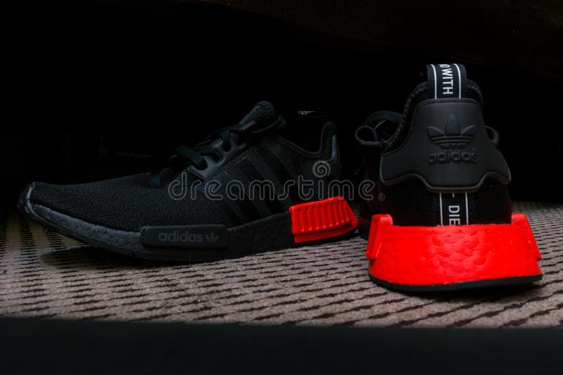 Adidas Nmd Sneakers With Ultra Boost Technology In All Black With