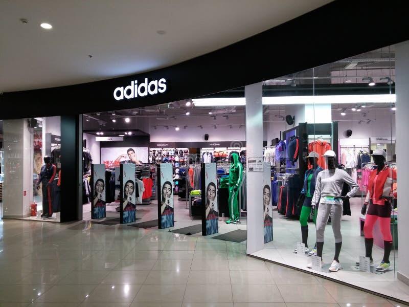 Adidas-Opslag royalty-vrije stock afbeeldingen
