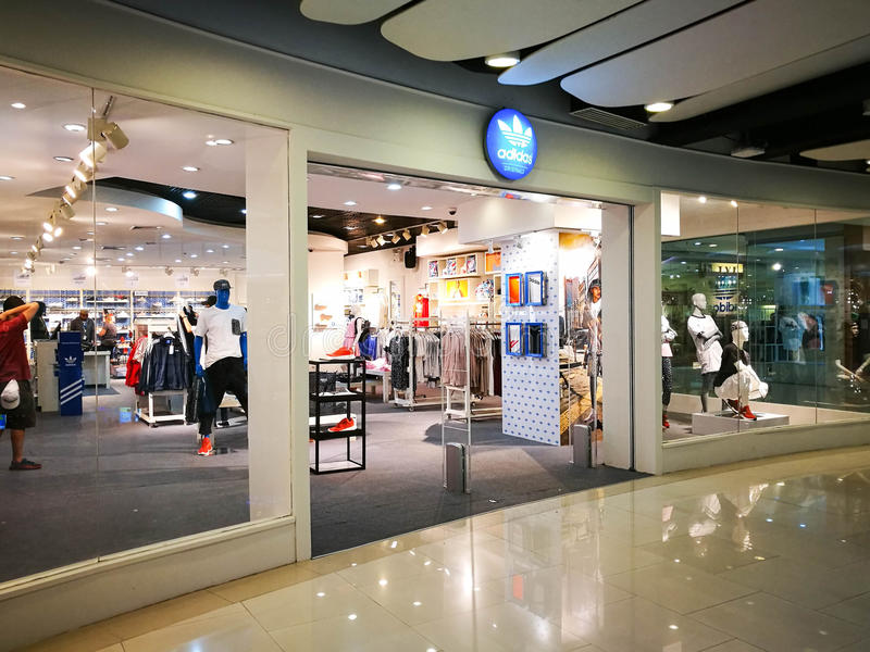 0ac8ce51 Adidas Originals Symbol Display Show At Storefront Of Retail Store ...