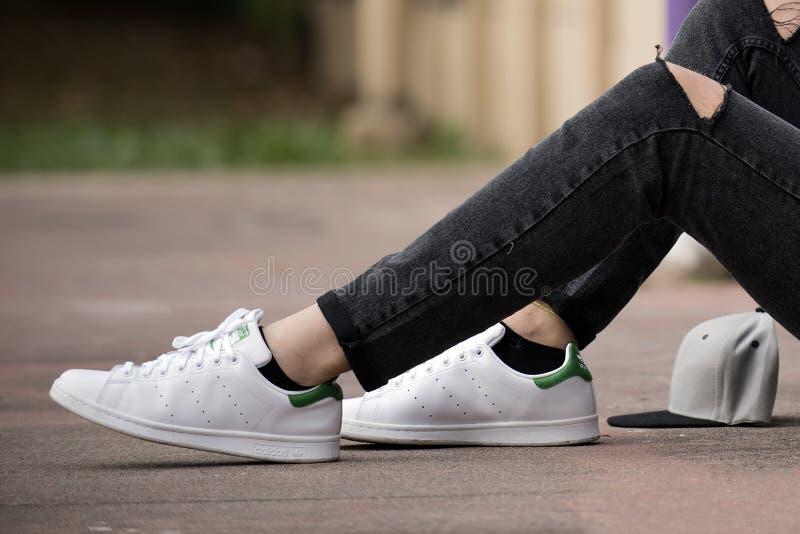 Adidas Stan Smith fotografie stock libere da diritti
