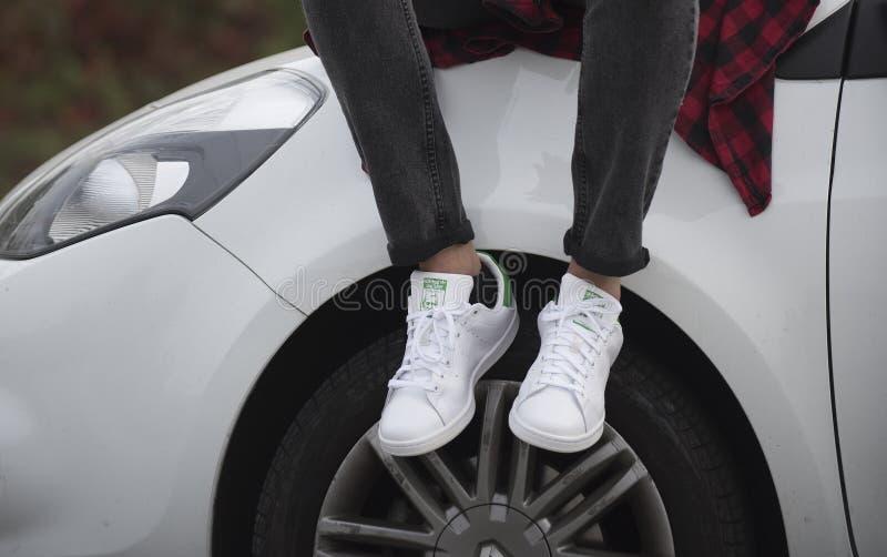 Adidas Stan Smith immagine stock libera da diritti