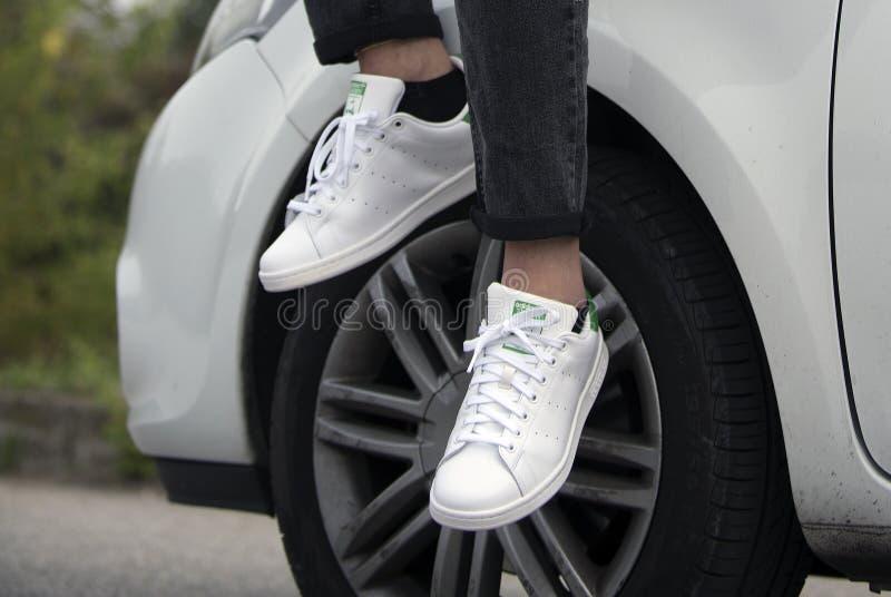 Adidas Stan Smith fotografia stock