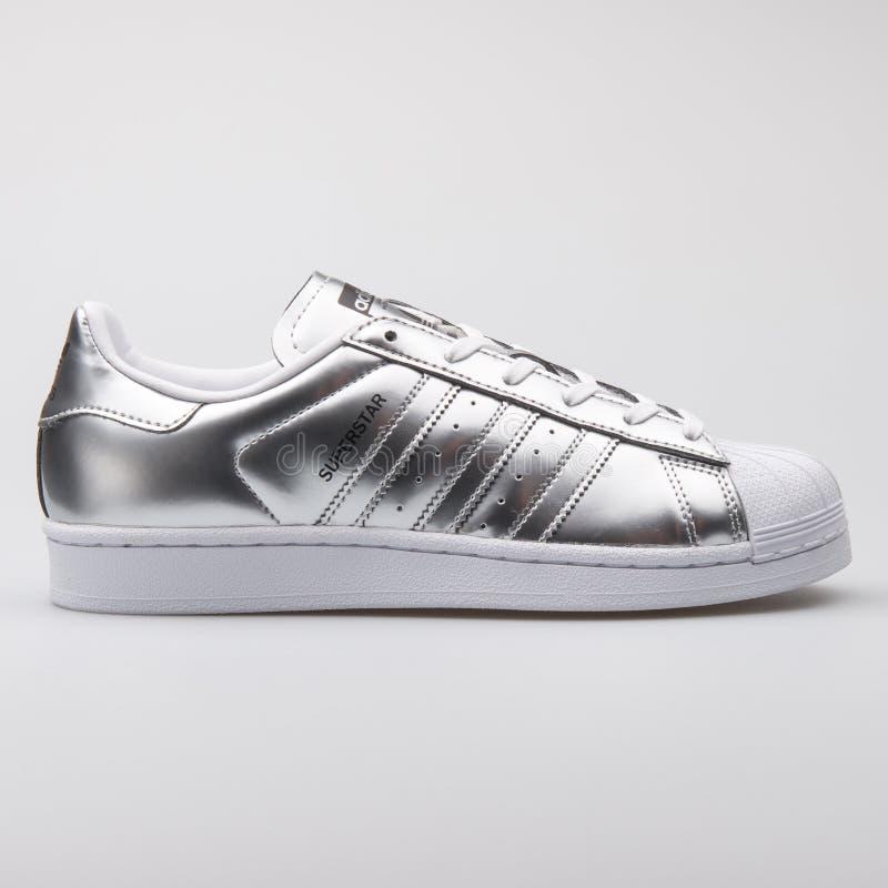 Adidas Superstar Metallic Silver Sneaker Editorial Photo - Image ...