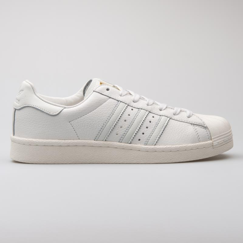 ee1e8280 Adidas Superstar Metal Toe Black And Gold Sneaker Editorial Stock ...
